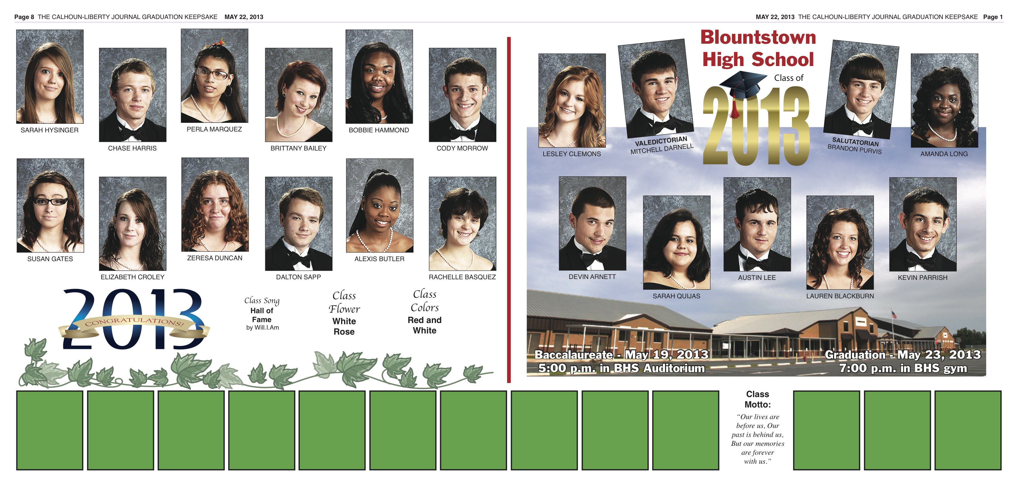 BHS Grad Section Page 1, 8