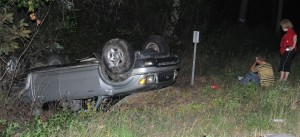 Passenger seriously injured when car rolls several times