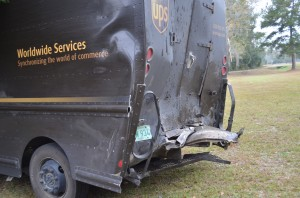 Two injured when UPS truck rear-ended on SR 20