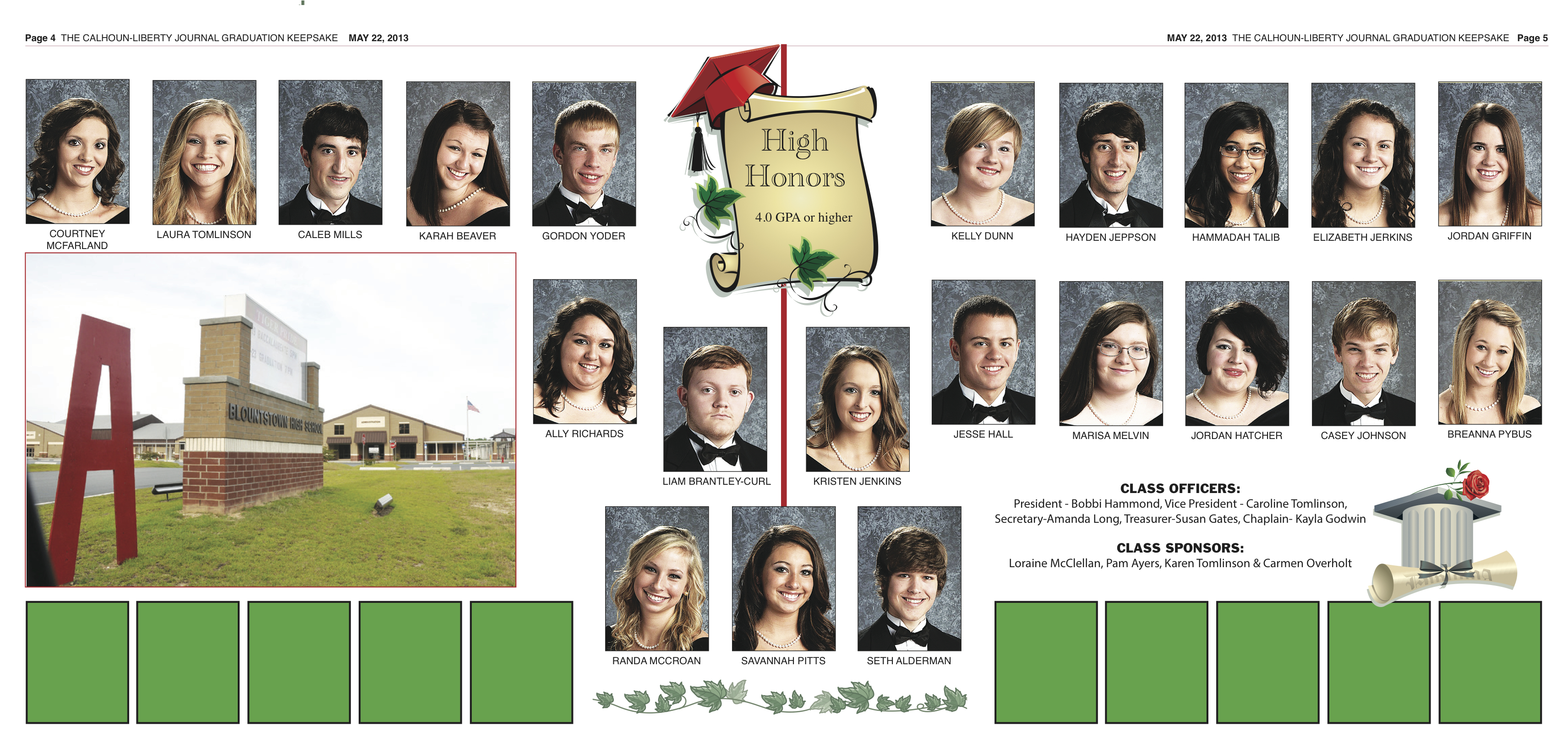 BHS Grad Section Page 4, 5