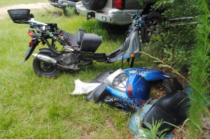 Scooter crushed, Bristol man escapes with minor injuries