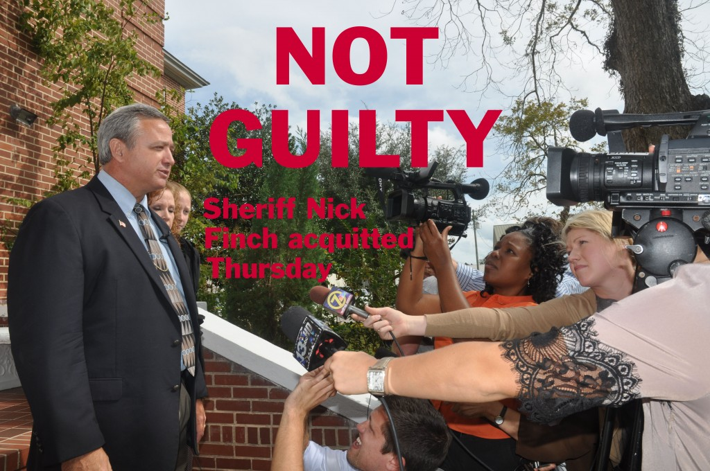 Sheriff Nick Finch acquitted Thursday