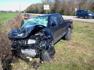 Hosford man hospitalized after two-vehicle collision