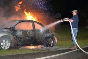 Blaze destroys VW on Hoecake Road