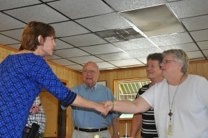 Accompanied by her father, former Florida Gov. Bob Graham Congressional candidatemakes campaign stop in Bristol Tuesday