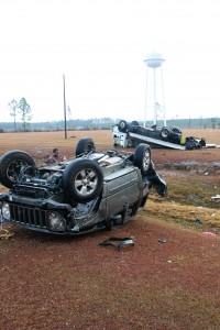 Correctional officer OK after riding out tornado inside Jeep