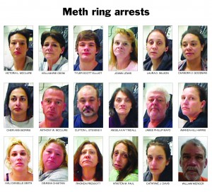 Crystal meth case results in 18 arrests