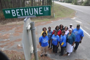 Road named in honor of former Bethune School