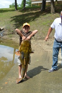 Bristol boy lands 49-lb. lunker near Bloody Bluff