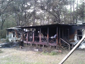 Blaze destroys home