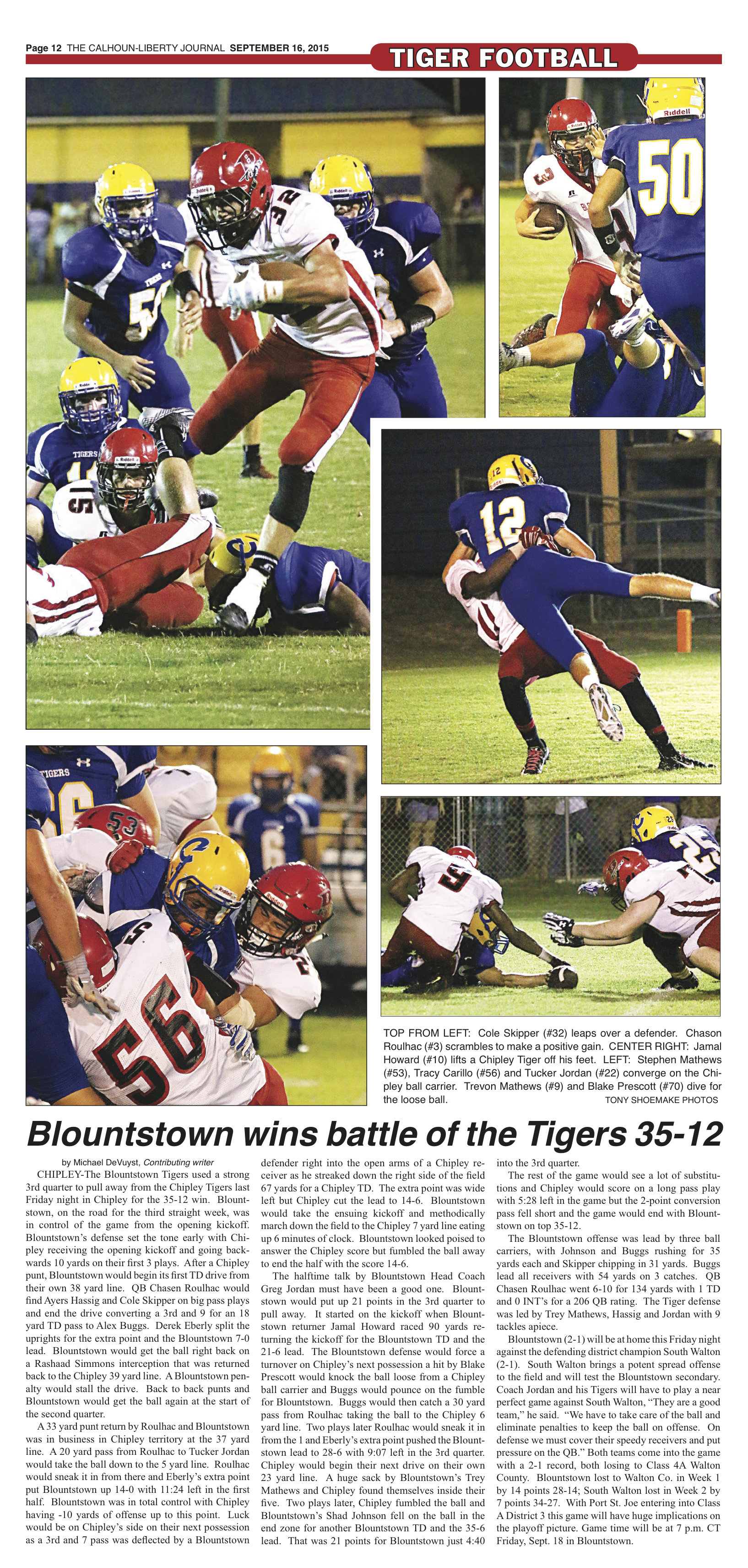 Blountstown Tiger Football