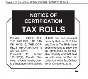 lc-property-appriaser-notice-of-certification-of-tax-rolls-10-26-16